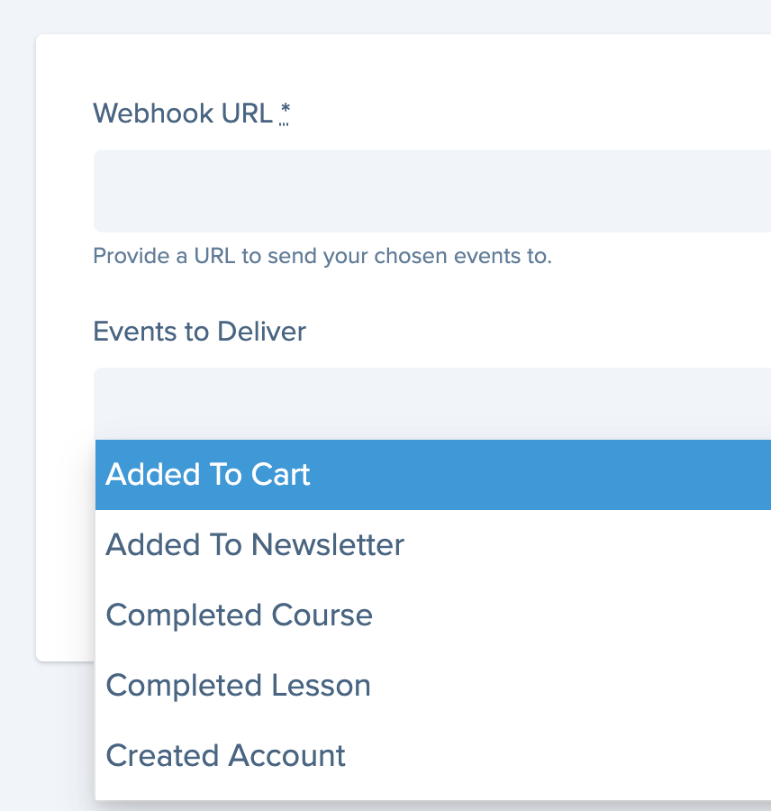 sending data with webhooks